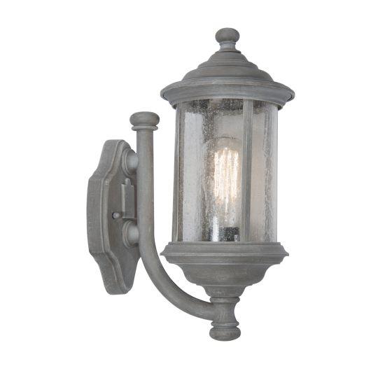 Dar Lighting Brompton with Lantern Old Iron IP43 BRO1661