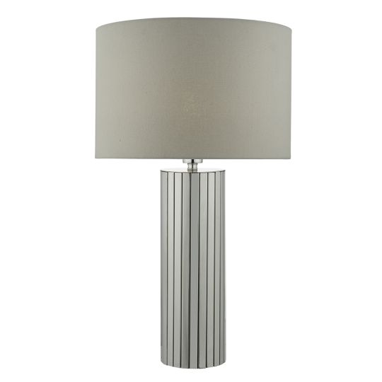 Dar Lighting Cassandra Table Lamp Polished Chrome complete with Shade CAS4250