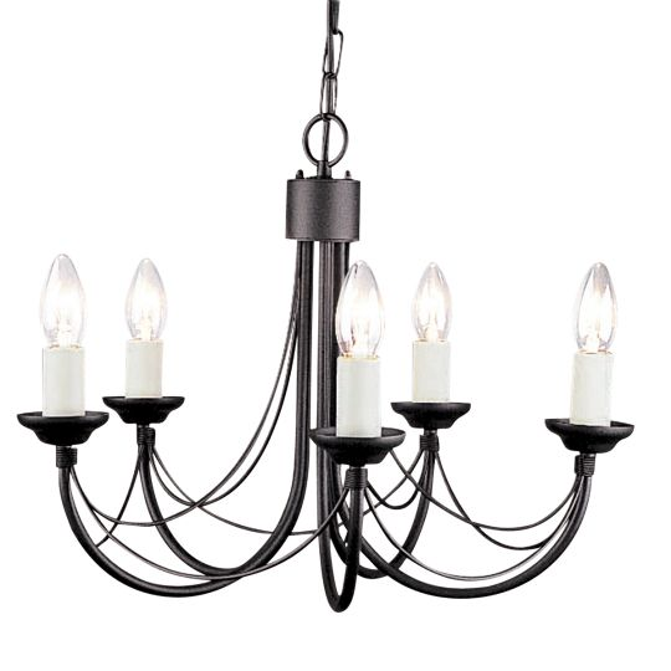 Elstead Lighting Carisbrooke 5 Light Chandelier CB5-BLACK