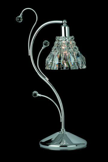 Impex CE00031/TL/CH Strasbourg  Series Decorative 1 Light Chrome Table Lamp
