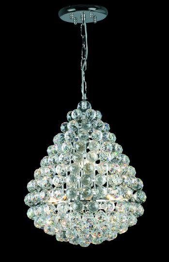 Impex CE05340/08/CH Marseille  Series Decorative 8 Light Chrome Ceiling Light
