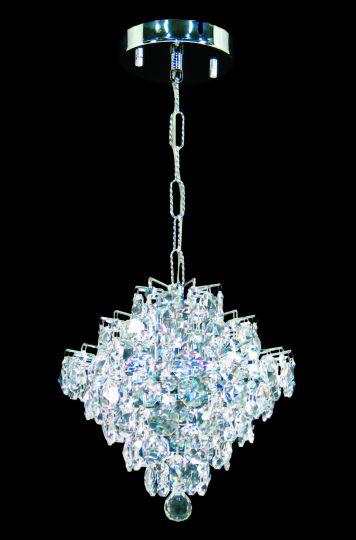 Impex CEH01081/01/CH Diamond  Series Decorative 1 Light Chrome Ceiling Light