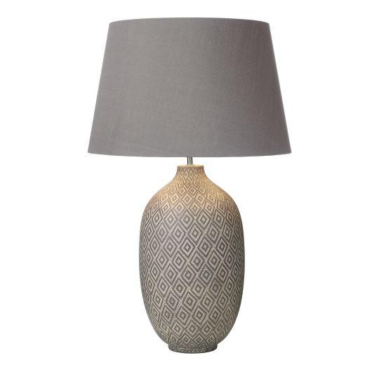 Dar Lighting Ceyda Table Lamp Ceramic & Grey Base Only CEY4239