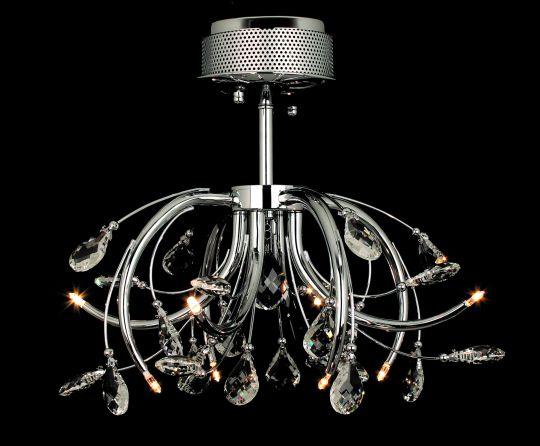 Impex CFH201112/08/SF/CH Halifax  Series Decorative 8 Light Chrome Ceiling Light