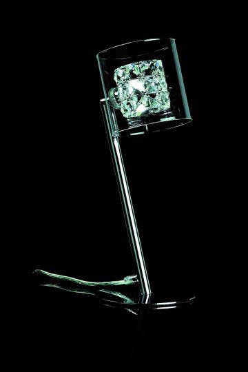 Impex CFH211171/TL/CH Sonja  Series Decorative 1 Light Chrome Table Lamp