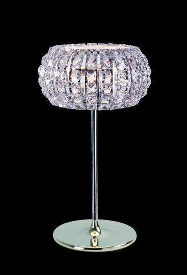 Impex CFH905262/TL/CH Rome  Series Decorative 3 Light Chrome Table Lamp