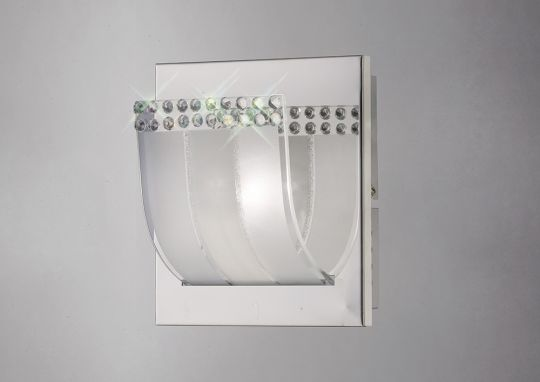 Diyas IL31290 Charis Wall Lamp Switched 1 Light Polished Chrome/Glass/Crystal