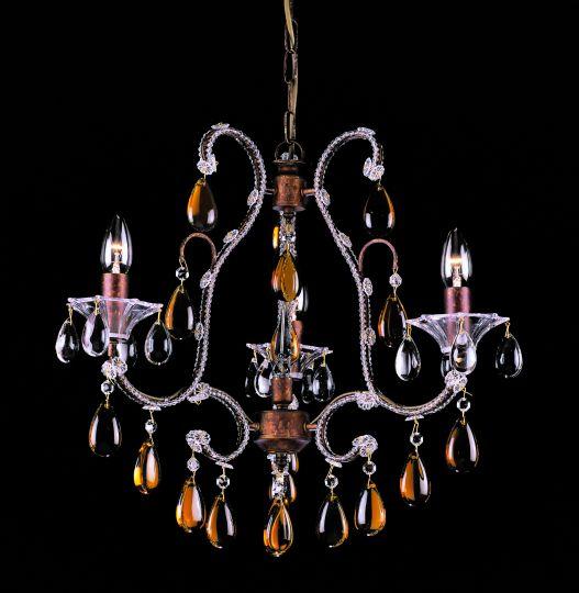 Impex CO03339/03/R Versailles  Series Decorative 3 Light Rustic Bronze Ceiling Light