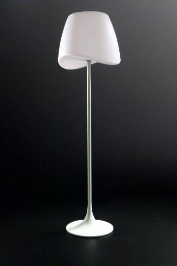 Mantra M1502 Cool Floor Lamp 2 Light E27 Foot Switch Indoor Matt White/Opal White