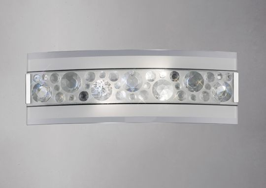 Diyas IL31251 Cosmic Wall Lamp Switched 2 Light Polished Chrome/Glass/Crystal