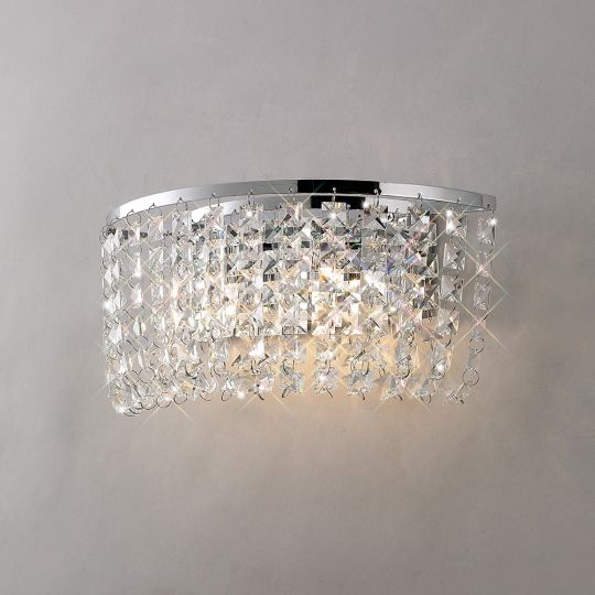 Diyas IL30052 Cosmos Wall Lamp Switched 2 Light Polished Chrome/Crystal
