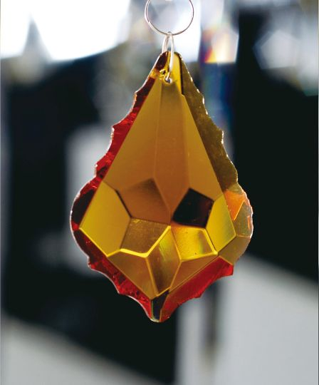 Diyas C30063 Crystal Maple Without Ring Amber 63mm