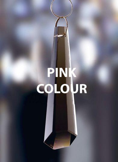 Diyas C70037 Crystal Hexagonal Drop Without Ring Pink 62mm