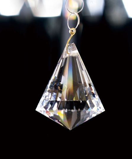 Diyas C70099 Crystal Pyramid Without Ring Clear 30mm