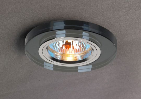 Diyas IL30806BL Crystal Downlight Shallow Round Rim Only Black IL30800 Required To Complete The Item