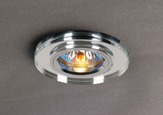 Diyas IL30806CH Crystal Downlight Shallow Round Rim Only Clear IL30800 Required To Complete The Item