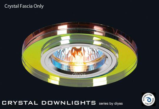 Diyas Lighting IL30806MC - Crystal Downlight Shallow Round Rim Only Spectrum