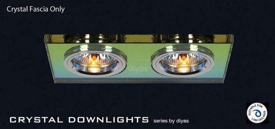 Diyas Lighting IL30807MC - Crystal Dual Head Downlight Rectangle Rim Only Spectrum