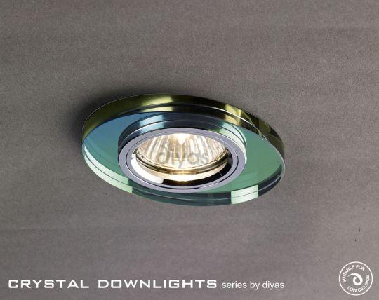 Diyas Lighting IL30808MC - Crystal Downlight Oval Rim Only Spectrum