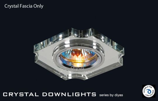 Diyas Lighting IL30809CH - Crystal Downlight Concave Corner Rim Only Clear