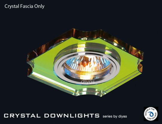Diyas Lighting IL30809MC - Crystal Downlight Concave Corner Rim Only Spectrum