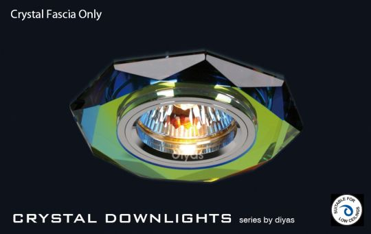 Diyas Lighting IL30814MC - Crystal Downlight Hexagonal Rim Only Spectrum