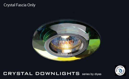 Diyas Lighting IL30816MC - Crystal Downlight Chamfered Round Rim Only Spectrum