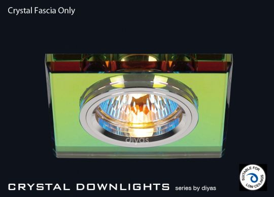 Diyas Lighting IL30817MC - Crystal Downlight Shallow Square Rim Only Spectrum
