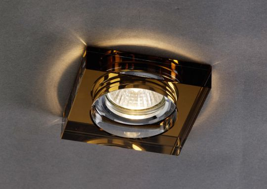 Diyas IL30822BZ Crystal Downlight Deep Square Rim Only Bronze IL30800 Required To Complete The Item