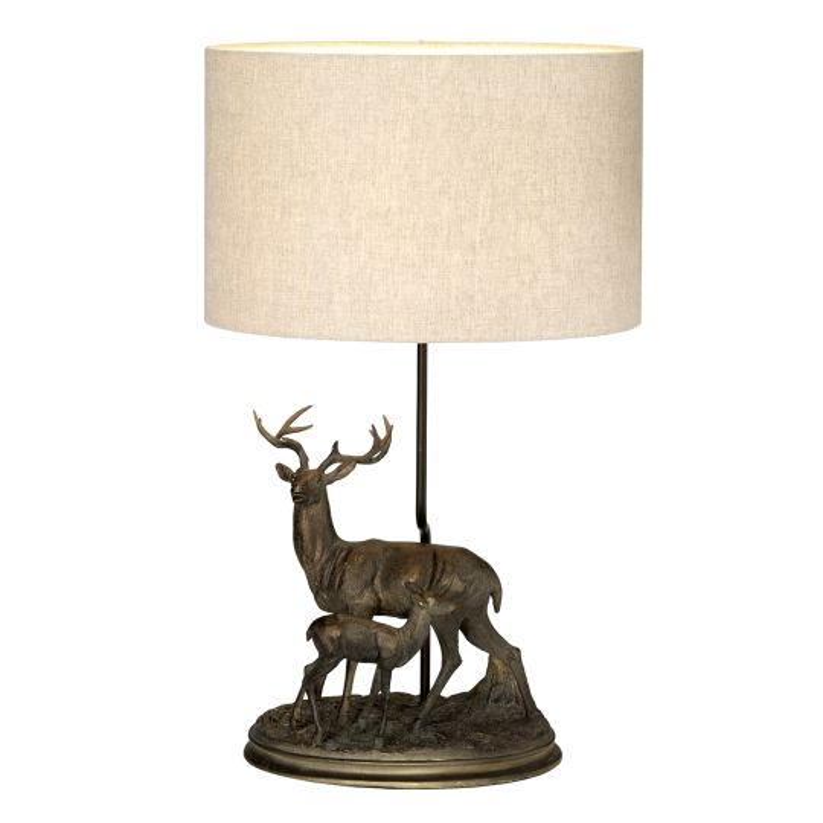 Designer's Lightbox Amelia 1 Light Table Lamp With Oval Shade DL-AMELIA-TL