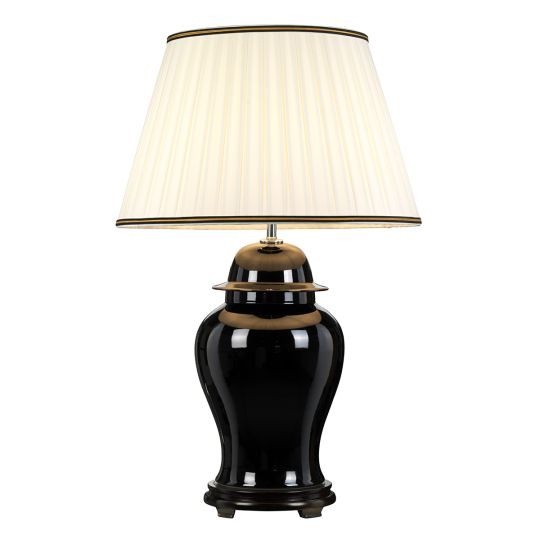Designer's Lightbox Chiling 1 Light Table Lamp With Tall Empire Shade DL-CHILING-TL-B