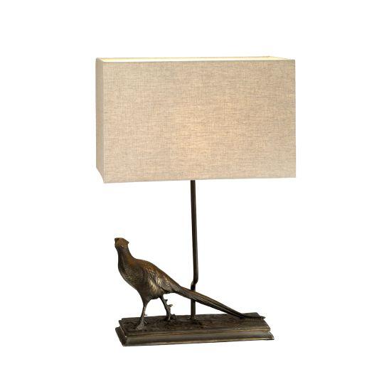 Designer's Lightbox Halkirk 1 Light Table Lamp With Rectangle Shade DL-HALKIRK-TL