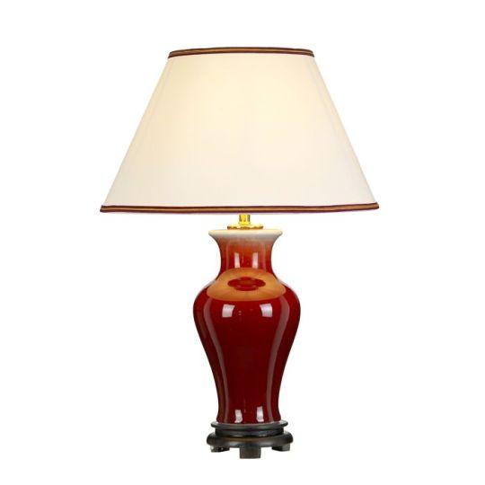 Designer's Lightbox Majin 1 Light Table Lamp With Tall Empire Shade DL-MAJIN-TL-OXB