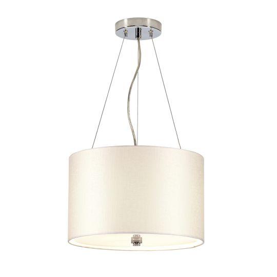 "Designer's Lightbox Pearce 14"" Pendant with Polished Chrome Ceiling Pan DL-PEARCE14-3LT-IV-PC"