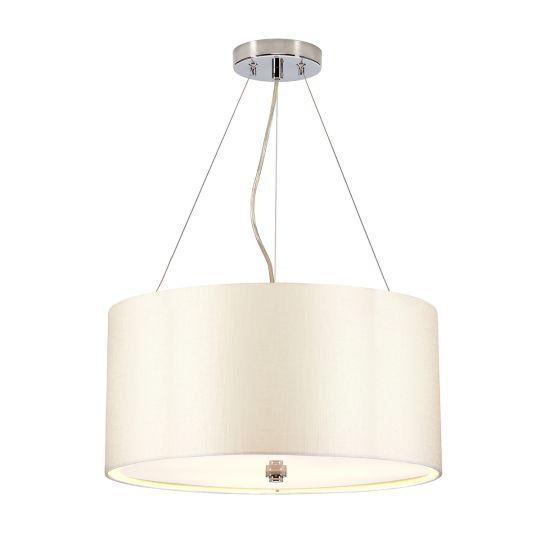 "Designer's Lightbox Pearce 18"" Pendant with Polished Chrome Ceiling Pan DL-PEARCE18-3LT-IV-PC"