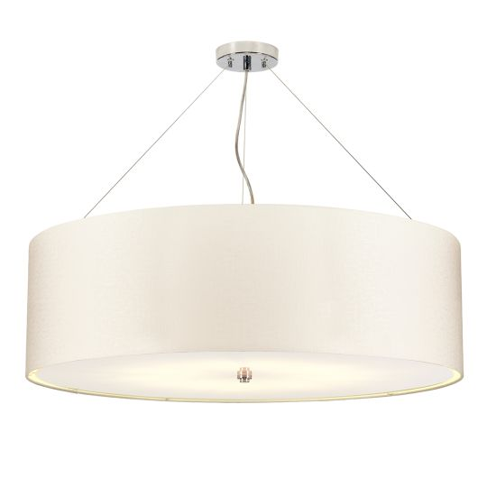 "Designer's Lightbox Pearce 34"" Pendant with Polished Chrome Ceiling Pan DL-PEARCE34-7LT-IV-PC"