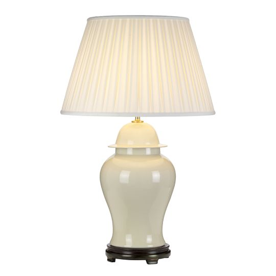 Designer's Lightbox Tongling 1 Light Table Lamp With Tall Empire Shade DL-TONGLING-TL-C