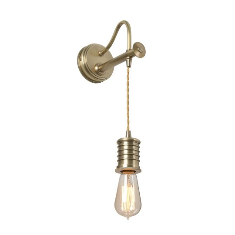Elstead Lighting  Douille 1 Light Wall Light - Aged Brass DOUILLE1-AB