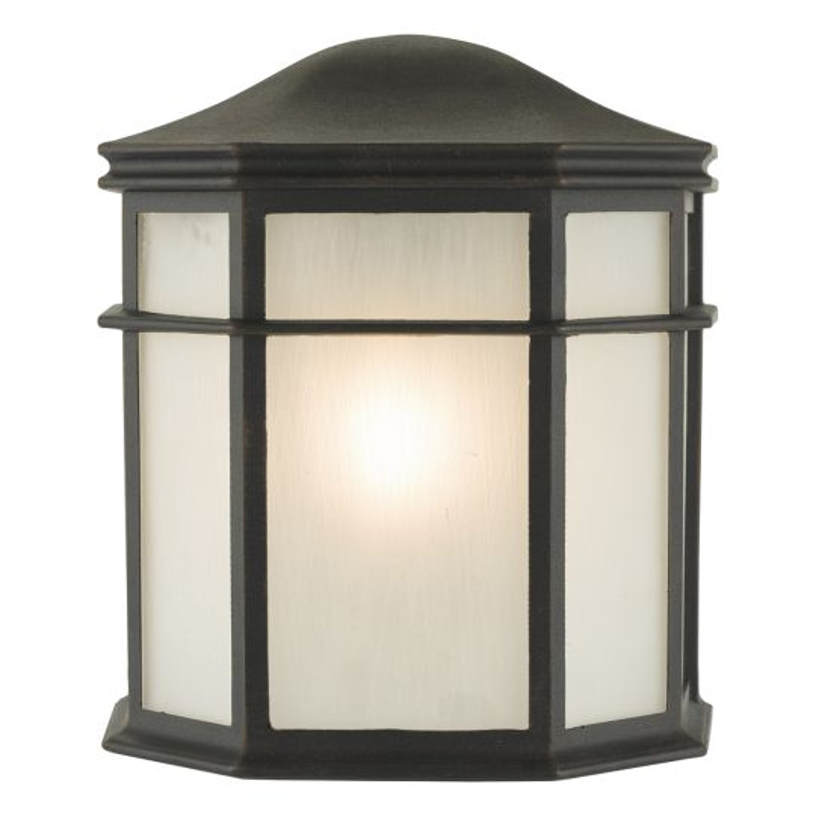 Dar Lighting Dulbecco Wall Light Black and Acrylic IP44 DUL2122