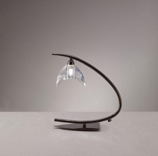 Mantra M1458BC Eclipse Table Lamp 1 Light G9 Small Black Chrome