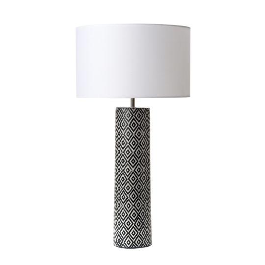 Dar Lighting Ego Table Lamp Black & White Base Only EGO4221