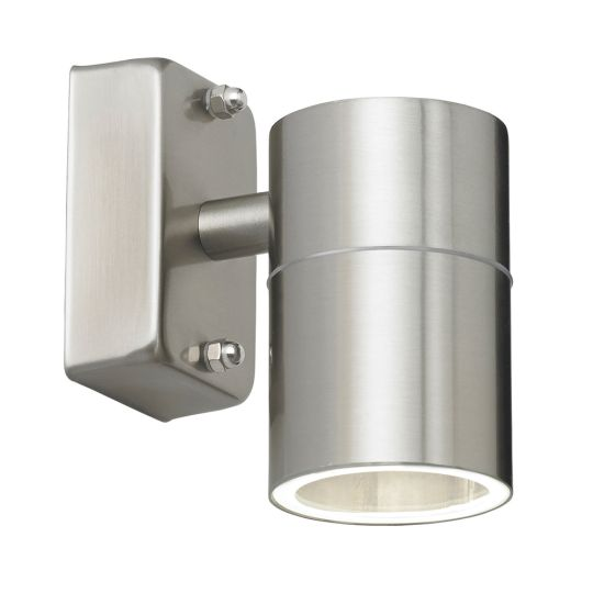 Endon Lighting Canon Polished Stainless Steel & Clear Glass 1 Light Outdoor Wall Light EL-40094