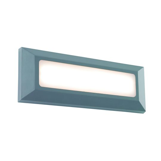 Saxby Lighting Grey Abs Plastic & Frosted Pc Severus Landscape Direct Ip65 3W Outdoor Wall Light EL-40103