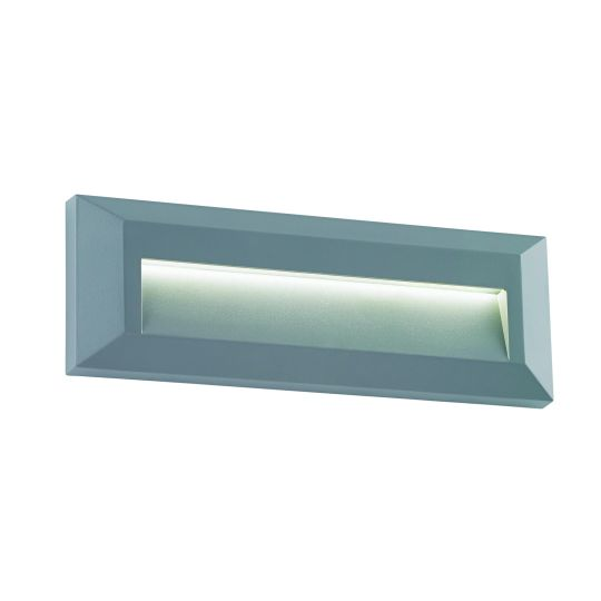 Saxby Lighting Grey Abs Plastic & Clear Pc Severus Landscape Indirect Ip65 2W Outdoor Wall Light EL-40104