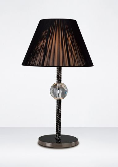 Diyas IL30590 Elena Table Lamp 1 Light Without Shade Black Chrome/Crystal