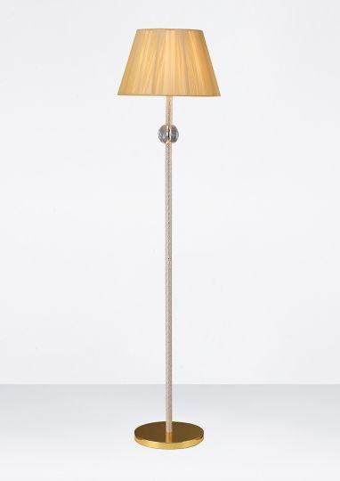 Diyas Lighting - Elena Floor Lamp 1 Light Gold Plated/Crystal - IL30620