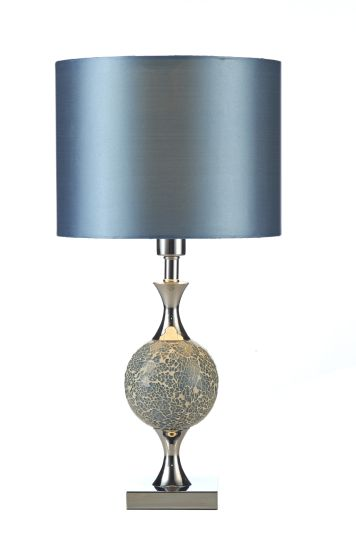 Dar Lighting ELS4223 - Elsa Table Lamp Blue Mosaic complete with Shade