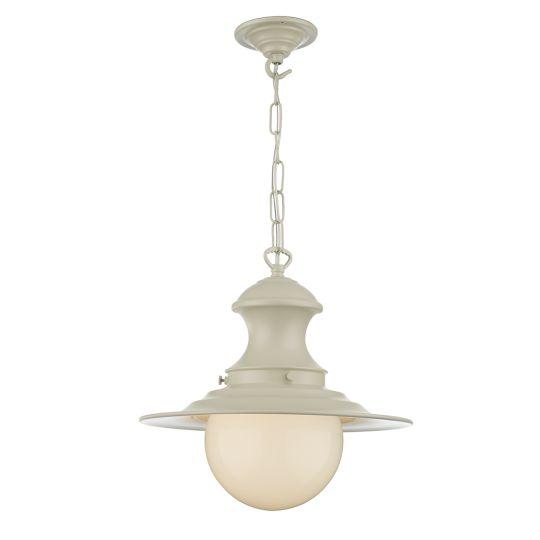 David Hunt Lighting EP0133 Station Lamp 1 Light Pendant Small Cream