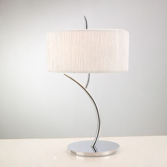 Mantra Lighting - EVE TABLE 2 LIGHT POLISHED CHROME WITH WHITE SHADE - M1137