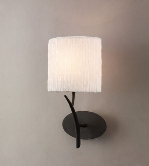 Mantra Lighting - EVE WALL 1 LIGHT ANTRACITE WITH WHITE SHADE - M1154